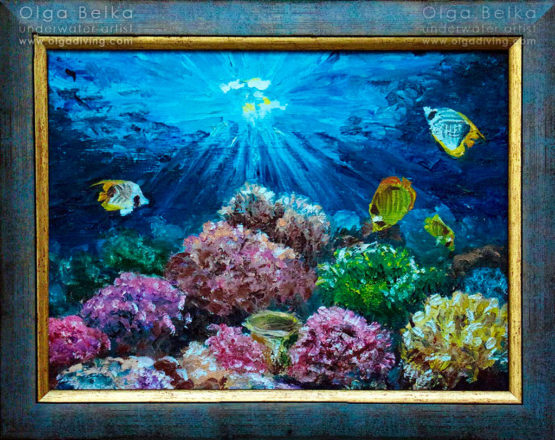 Underwater painting by Olga Belka - At Sunrise