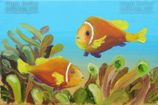 Underwater painting by Olga Belka - Cute talks