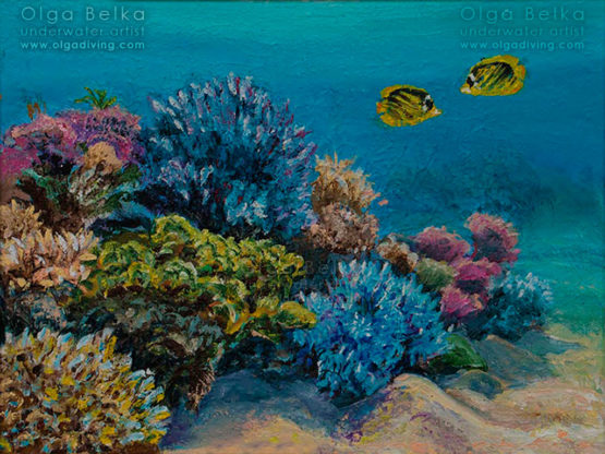 Underwater painting by Olga Belka - Dating in shallow water