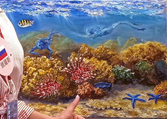 Underwater painting by Olga Belka - Mermaid-games