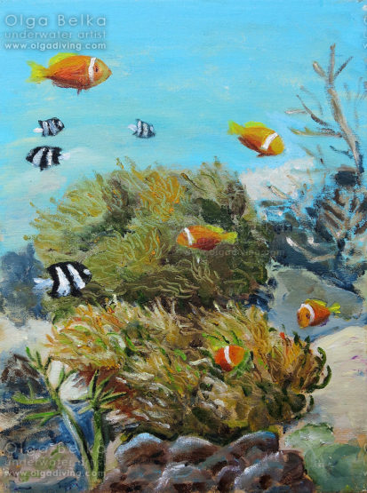 Underwater painting by Olga Belka - Moving home