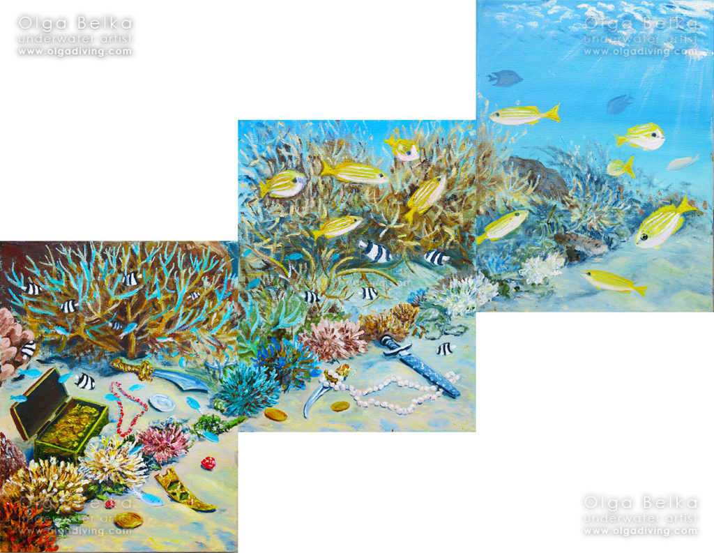 Sea gold (triptych)