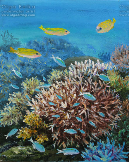 Underwater painting by Olga Belka - Petty fuss
