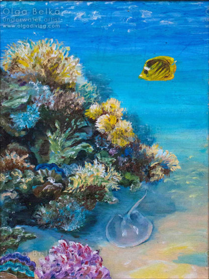 Underwater painting by Olga Belka - Playing hide-and-seek