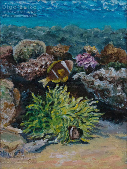 Underwater painting by Olga Belka - Safety home