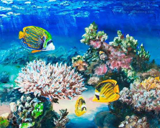 Underwater painting by Olga Belka - The arch of the imperial palace