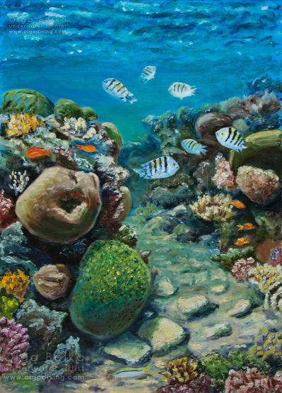 Underwater painting by Olga Belka - The pathway